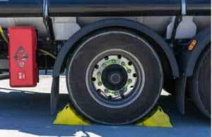 Place wheel wedges and Remove the hubcap